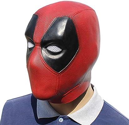 Deadpool Cosplay Mask Costume Latex Halloween Deadpool Full Face Helmet Cosplay