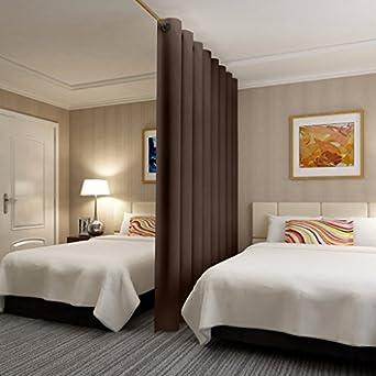 ChadMade Premium Heavyweight Room Divider Curtain (Beige| Chocolate| Black|  Grey| Khaki