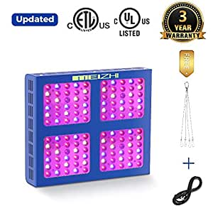 300W 450W 600W 900W 1200W LED Grow Light MEIZHI Updated Version Reflector-Series Full Spectrum for Indoor Plants Veg and Flower - Dual Switches and Daisy Chain 600W led Grow Light