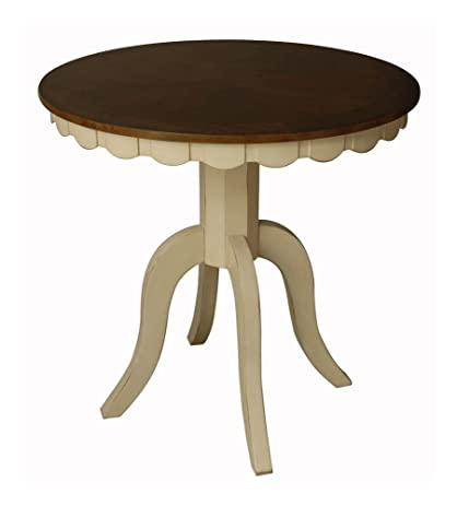 amazon com cottage counter height round dining table w pedestal