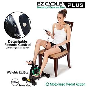 Daiwa Felicity Motorized Assisted Desk Pedal Exerciser Mini Stationary Rehab Exercise Bike EZ Cycle Smooth Pedal System for Seniors Rehabilitation Bike from U.S. Jaclean