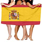 Colivy Flag Of Spain Bath Towel Sports Beach Pool Super Soft Highly Absorbent Washcloth