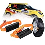 Car Tire Anti-Skid Block, Cable Snow Tire Chain Reusable Car Anti Slip Tire Traction Easy Installation/Removal for Car Truck SUV Emergency Winter Driving (2 PCS)