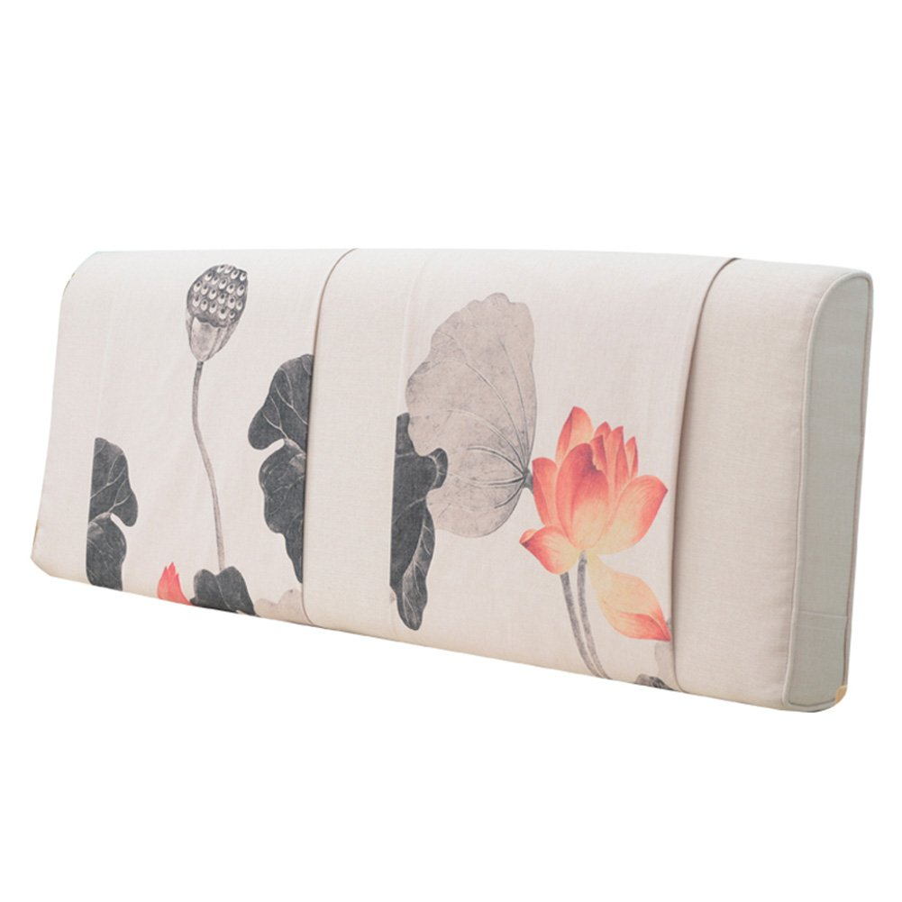 GXY Bedside Kissen Nordic Wind Bett Kopfbedeckung Soft Pack Bett Kopfstütze Doppel Tatami Große Rückenlehne Einfach Modern Waschbar Kissen (Farbe : 1#, größe : 90x10x58cm)