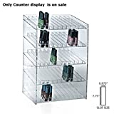New 5-tiered Clear 60 Compartment Cosmetic Counter Display 12''W x 8.5''D x 18.5''H