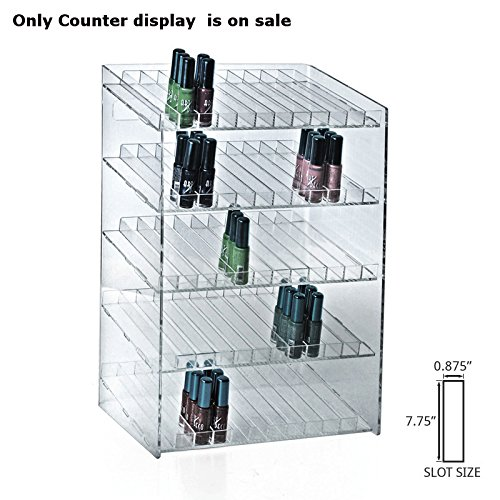 New 5-tiered Clear 60 Compartment Cosmetic Counter Display 12''W x 8.5''D x 18.5''H by Counter Display