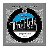 D\'Addario RNH-3T Pro-Arte Rectified Clear Nylon Classical Guitar Half Set, Hard Tension