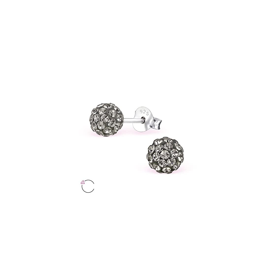Ball Ear Studs 925 Sterling Silver For Women and Girls