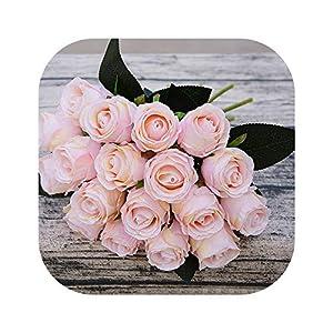 vibe-pleasure 18pcs/Lots Artificial Rose Flowers Wedding Bouquet Rose Silk Flowers Home Decoration 95
