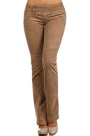 a2ca65695d1 Limit 33 Juniors Teens Corduroy Pants Low Rise Boot Cut School Work Khaki  Size 3