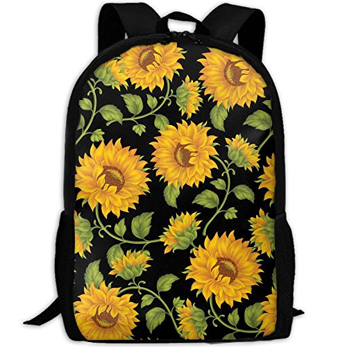 Travel Backpack Laptop Backpack Large Diaper Bag - Beautiful Sunflower Backpack School Backpack For Women Men by SAPLA