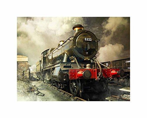 Steam Train Vintage Colour Photo Art Picture Poster Print (Pictures Train Vintage)