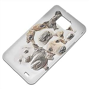 Perros 10019, Cachorro, Embossed Caso Carcasa Funda Duro Gel TPU Protección Case Cover, Diseño con Textura en Relieve para Samsung S2 i9100 i9200.