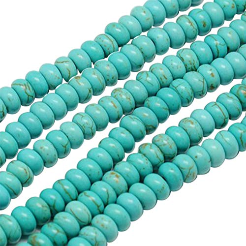 - arricraft 20 Strands Turquoise Abacus Dyed Synthetic Turquoise Beads Strands