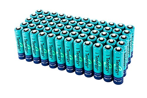 60 pcs of Tenergy AAA 1000mAh High Capacity NiMH Rechargeable Batteries (Rechargeable Pc)