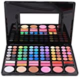 NOMSOCR 78 Colors EyeShadow Pallete and Makeup Brush, Professional Glitter Long Lasting Pigment Smokey & Matte Waterproof Eye Shadow Palette Shimmer Cosmetic Set (C)