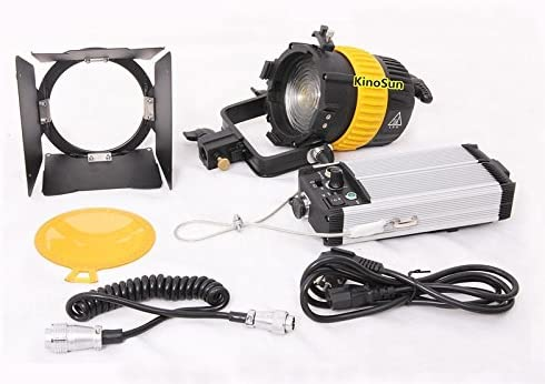 80W LED Spotlight Focusable Dimmable CRI93 Daylight 5600K+3200K Filter+V-mount