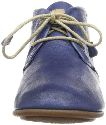 Pikolinos Calabria 7124 - Zapatos de cordones de cuero para mujer azul - Nautic