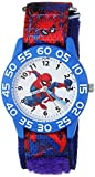 MARVEL Boy's Spider-Man' Quartz Plastic and Nylon Casual Watch, Color:Blue (Model: WMA000189)