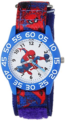 Marvel Boy's 'Spider-Man' Quartz Plastic and Nylon Casual Watch, Color:Blue (Model: WMA000189)