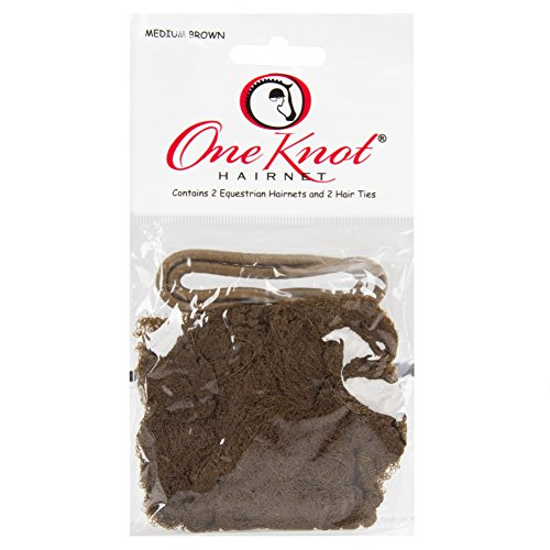 One Knot Hairnet with 2 Comfort Equestrian News and 1 Matching Headband, Medium Brown