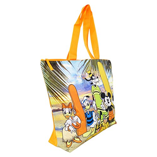 Disney Mickey Beach Friends Borsa da Mare Donna Ragazza Capiente a Mano Shopping Pic Nic