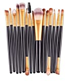 15 Piece Makeup Brushes Set Eye Shadow Brow Eyeliner Eyelash Lip Power Cosmetic Make Up Tool Foundation Natural Beauty Palette Eyeshadow Fascinating Popular Colorful Rainbow Highlights Kit, Type-03