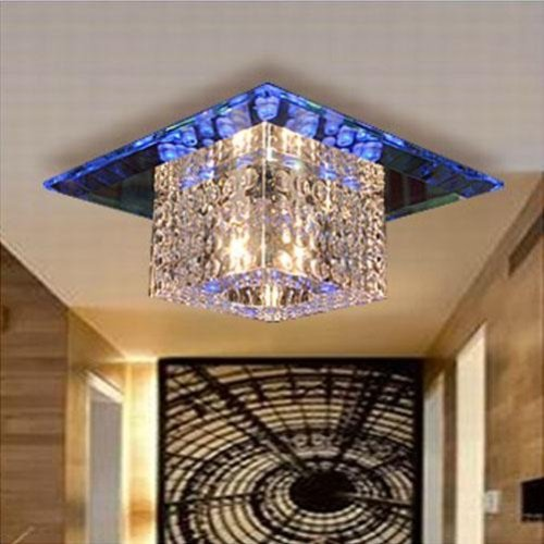 LightInTheBox Classic 3W LED 180mm Luxury Crystal Ceiling Lamp Dining Room Crystal Lamp Mini Style Chandeliers Pendant Lights (Cold White, Voltage=110-120V)