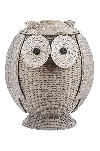 Owl Bathroom Hamper, 23.2''Hx19.1''Wx18.5''D, GREY by Home Decorators Collection