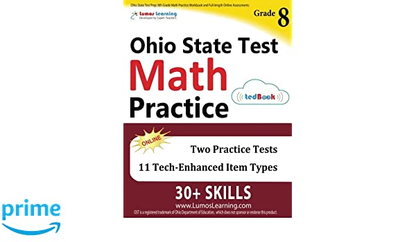 Ohio State Test Prep: 8th Grade Math Practice Workbook and Full ...