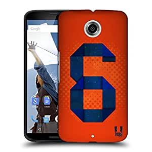 Head Case Designs 6 I Am Number Protective Snap-on Hard Back Case Cover for Motorola Nexus 6 LTE