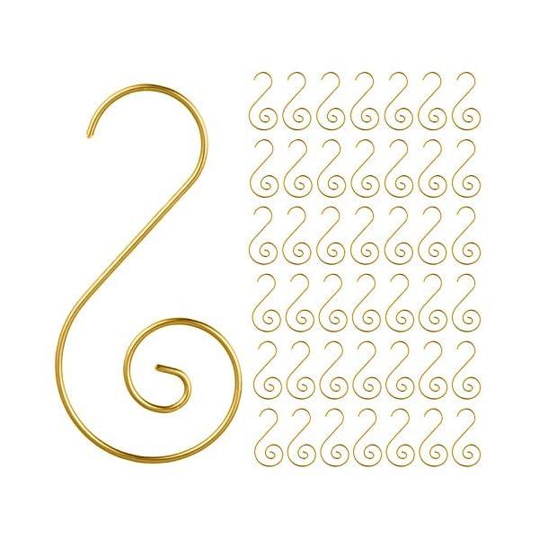 MELLIEX 120 Pezzi Natale Ornamento Ganci in Metallico S Ganci Appendini con Ornamento a Spirale per Ornamento dell'Albero di Natale 1 spesavip