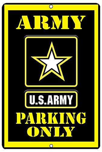 Tina-R US Army Parking Only Metal Tin Sign 8x12 inch Wall Decor Man Cave Bar Soldier Veteran Military