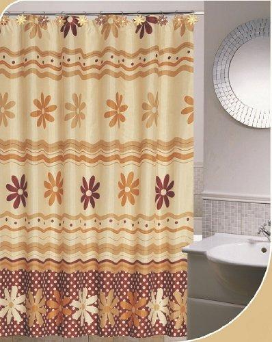 Amazon.com: Daniels Bath and Beyond Ashley Shower Curtain Set with ...