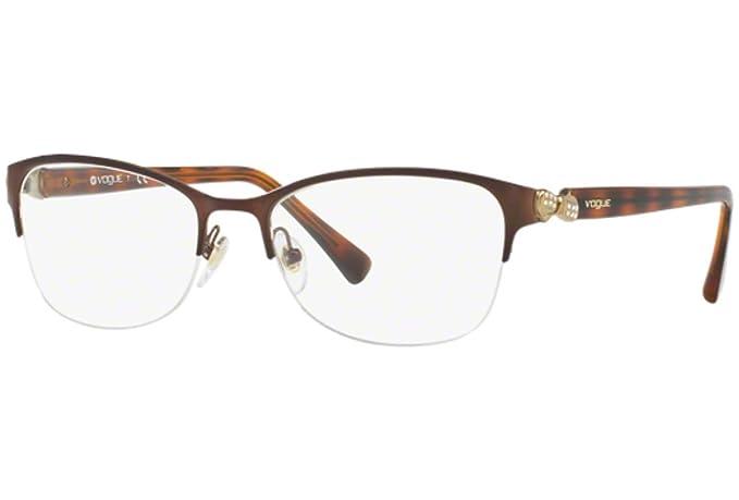 Vogue Eyewear VO4027B 934, Brushed Brown/Havana, 55-18mm, Eyewear ...