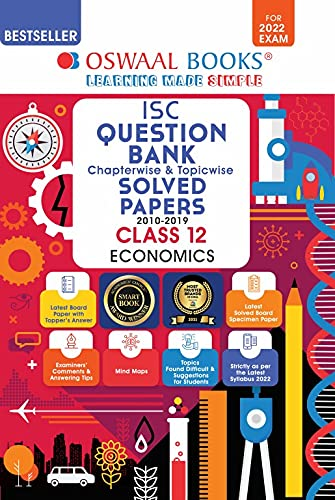 Oswaal ISC Question Bank Class 12 Economics Book Chapterwise & Topicwise (For 2022 Exam)