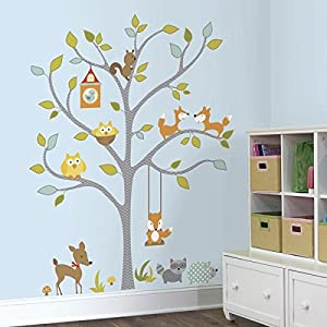 Marvelous RoomMates Woodland Fox And Friends Tree Peel And Stick Wall Decals Photo