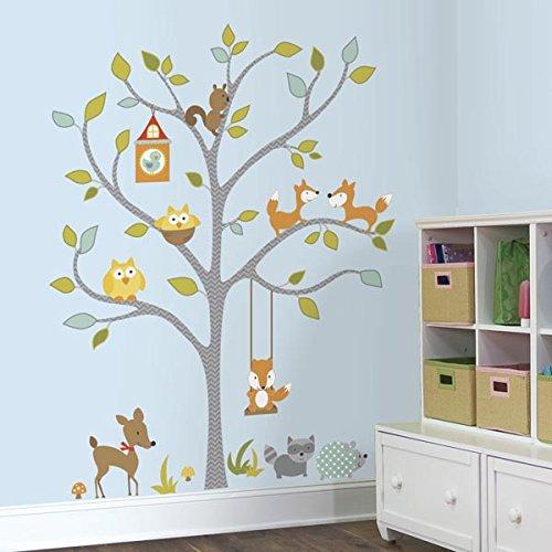 RoomMates Woodland Fox and Friends Tree Peel and Stick Wall (Woodland Tree)