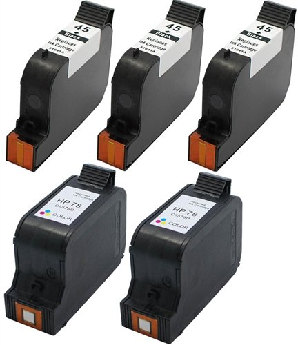 Supplies Outlet Remanufactured Ink Cartridge Replacement For HP 45 & 78 Ink Cartridge Value Bundle