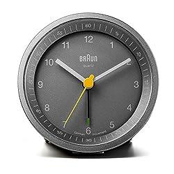 Braun BNC007GYGY Classic Light Analog Quartz Alarm Clock