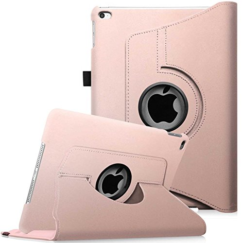Fintie iPad mini 4 Case - 360 Degree Rotating Stand Case with Smart Cover Auto Sleep / Wake Feature for Apple iPad mini 4 (2015 Release), Rose Gold