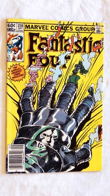 (Fantastic Four #258 Comic Book - Marvel Comics 1983 - 8.0 Grade- There is a rubber ink stamp imprint on the back cover. NOT LIKE NEW.)