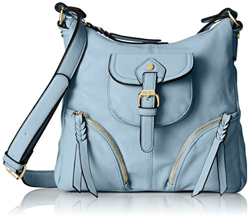 MG Collection Evelina Travel Cross Body Bag Light Blue One Size