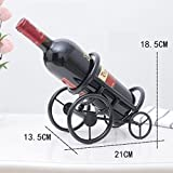 European creative wrought iron wine rack home decorations ornaments Hotel KTV restaurant fort wine rack wine rack (without bottle) WL5291406 (Color : Black)