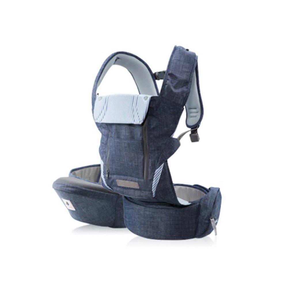 Pognae No5 Plus Organic Cotton Hipseat All in One Carrier (Denim Blue)