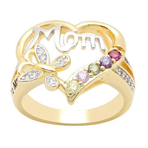 Ginger Lyne Collection Mom Heart Ring Inscribed to Mom with Love