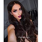 PlatinumHair natural body wave heavy density synthetic lace front wigs for black women 24-28inch