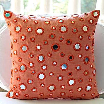 Amazon Com The Homecentric Luxury Peach Orange Pillows Cover