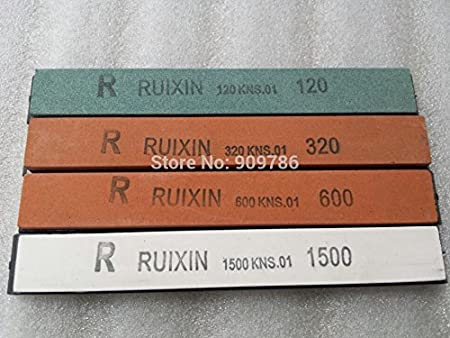 QHY Sharpen4pcs / set origin Piedra de afilar cuchillos Ruixin 120# 320# 600# 1500# piedra de afilar para el sistema de afilador de cuchillos