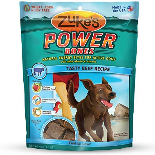 Zuke's Power Bones Tasty Beef Recipe Dog Treats - 6 oz. Pouch